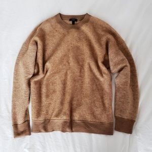 J. Crew brushed mohair boyfriend sweatshirt tan